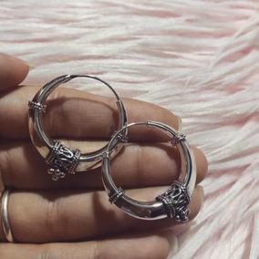 Bali Hoops De 30mm Plata 925