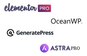 Plugin Elementor Pro + Astra Pro + Generate Press + Oceanwp