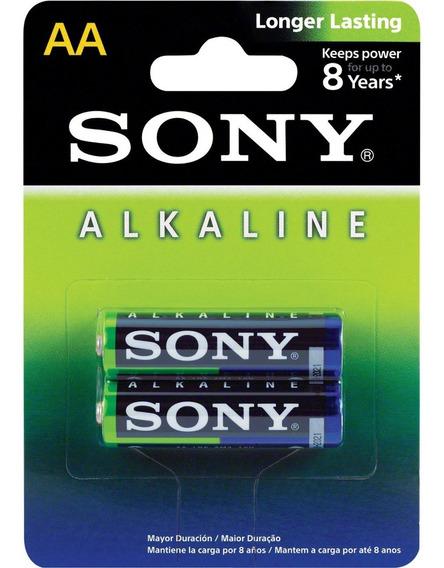 Pilha Pequena Aa Sony Alcalina Caixa Com 12 Cartelas
