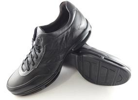 Sapato Smart Comfort Air Full 3 Preto Democrata Ref 114103
