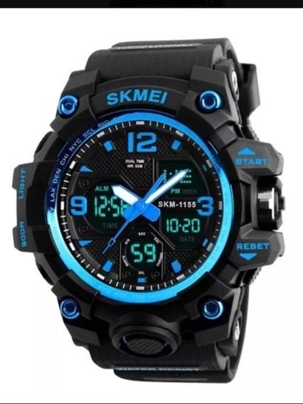 Relógio Skimei 1155b - AzulCaixa Presente (brinde)