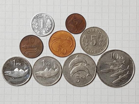 Islandia Colección 9 Monedas