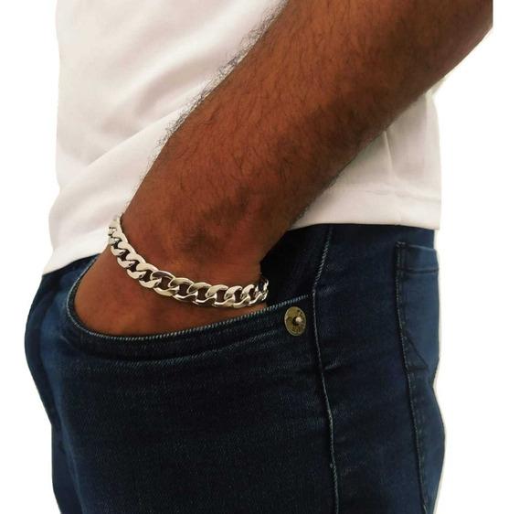 Pulseira Grumet Masculina Grossa Em Aço Inox + Garantia + Nf