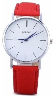 Reloj Casual Rojo Intenso
