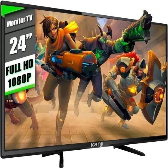 Monitor Tv Led 24 Hd Pulgadas 1080p Hdmi Vga Usb