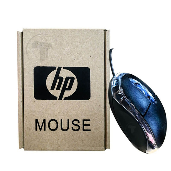 Mouse Usb Optico Hp Led Color Negro Tt