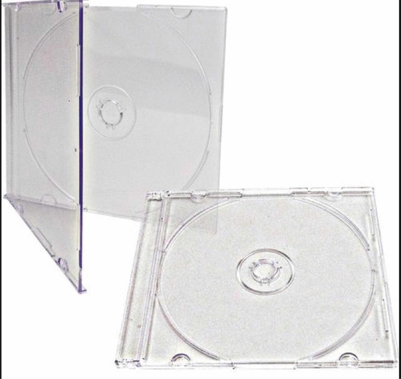 Estojo Cd Box Slim Acrílico Transparente 400