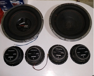Combo Bajos 15 Audio Pipe 1700whatts Con 4 Medios 8