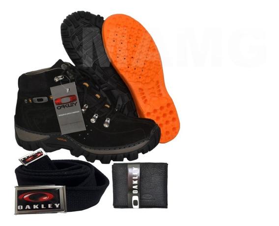 Bota Coturno Tênis Adventure Brinde Carteira+cinto Oakley