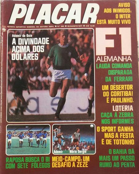Revista Placar N° 380 - 05.08.1977 - Pôster Dirceu