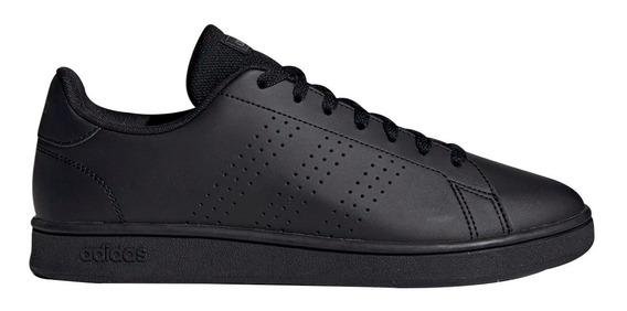 Tenis adidas Advantage Juvenil Negro Talla 17 A 24,5 Comodos