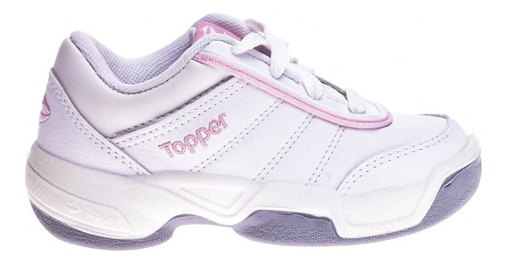 Zapatilla Topper Tie Break Ii Kids Blanca