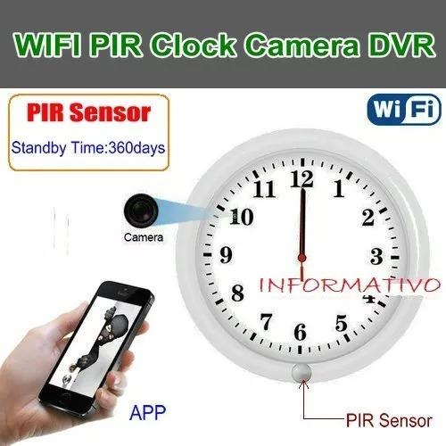 Relógio De Parede C/câmera Detector Mov. Espiã