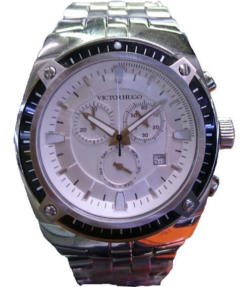 Relógio Victor Hugo Mostrador Prata - Vh10047gss/04m