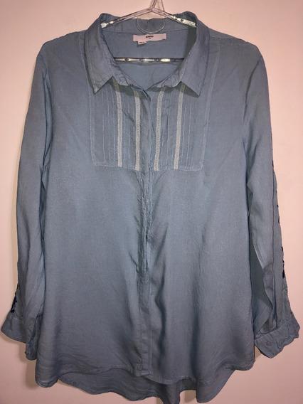 Camisa De Mujer Bordada Marca Desiderata Talle 4 / 44