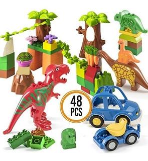 Prextex 48 Unidades De Bloques De Construccion De Dinosaurio
