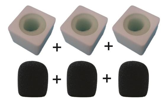 Canopla Cubo Branca Para Microfone Em Acrílico Com Brinde