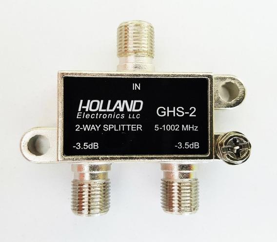 100 Derivador 2 Vias Cable Divisor Splitter Holland Catv Tda