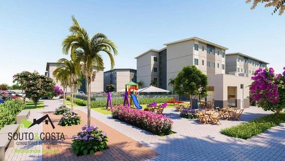 Apartamento Com 2 Dormitórios À Venda, 42 M² Por R$ 121.200,00 - Centro - Caucaia/ce - Ap0050