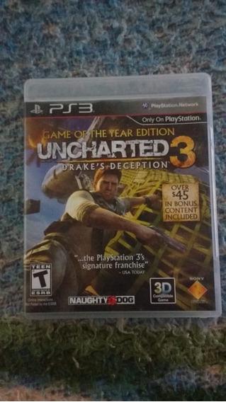 Uncharted 3(leia) - Mídia Física - Ps3