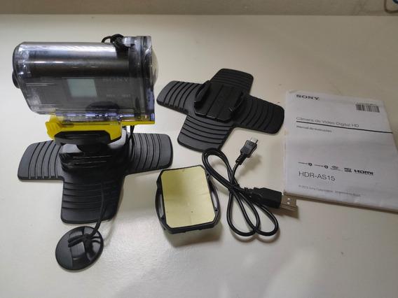 Sony Action Cam Hdr As 15 - Câmera Digital De Ação