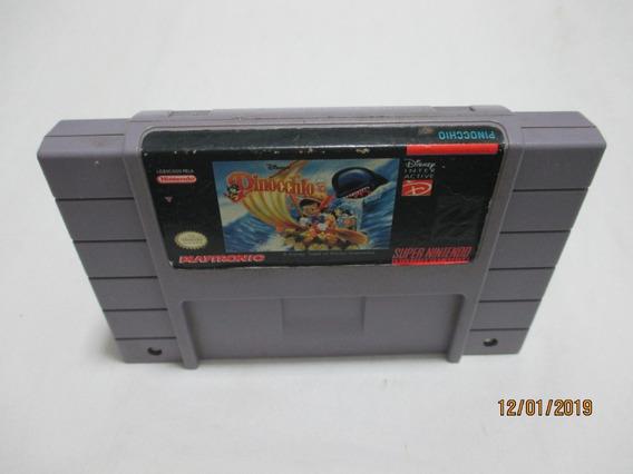 Pinocchio/cart. Original P/super Nintendo(leia Descrição)