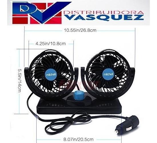 Ventilador Doble Cooler Para Vehiculos Full Potencia