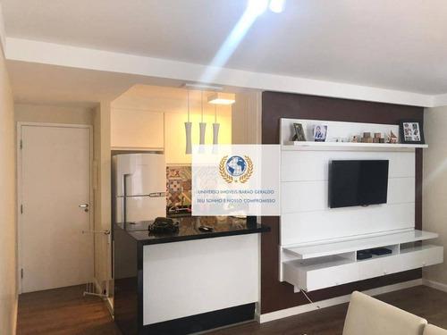Apartamento Com 3 Dormitórios À Venda, 75 M² Por R$ 430.000,00 - Loteamento Center Santa Genebra - Campinas/sp - Ap0823