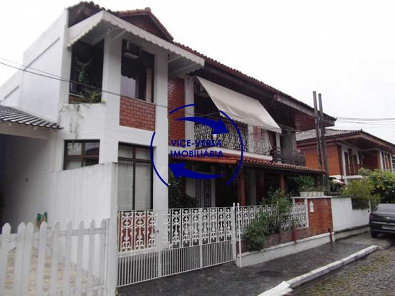 Anil, Estrada Uruçanga, Casa Duplex À Venda Em Condomínio Fechado, 3 Salas, Varanda, 3 Quartos (1 Suíte), Lavabo, Piscina, Churrasqueira! - 1106