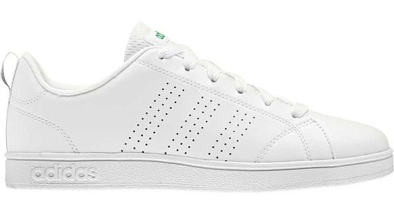 Tenis adidas Advantage Blanco Con Verde - Aw4884