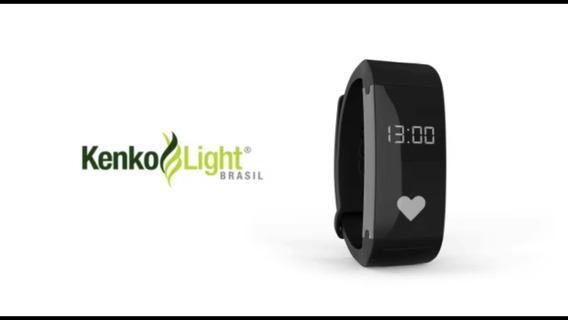 Pulseira Magnética Infravermelho E Relógio Watch Kenko Ligth