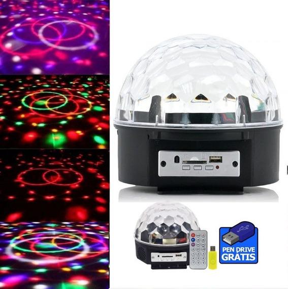 Meia Bola Maluca Magic Ball Led Rgb Holográfic Usb Pen Drive