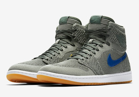 Nike Air Jordan 1 Retro Hi Flyknit Clay Green