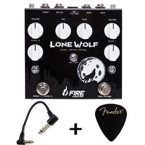 Pedal Fire Lone Wolf Dual Overdrive Boost Volume + Brindes