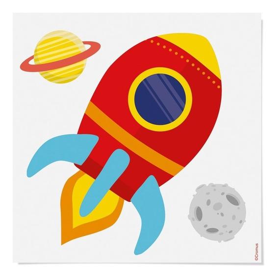 Cartela Papel Transfer P/camiseta Astronauta 13x13cm