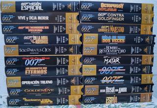 Colección De Vhs James Bond 007. Son 20 Películas.