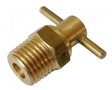 Dreno Para Compressor De Ar 1/4 Lub-40 Latão