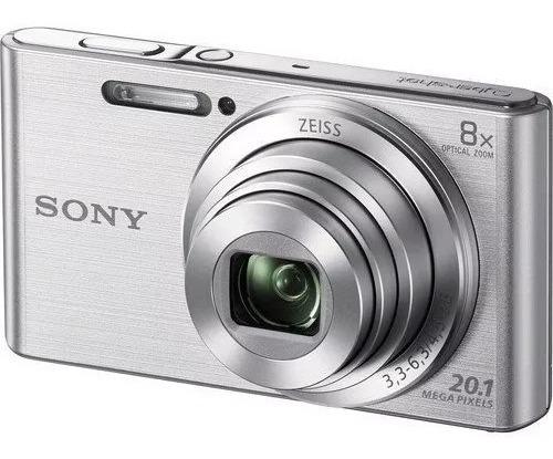 Câmera Sony Dsc-w830 Prata 20.1 Mp Zoom 8x W830 - Openbox