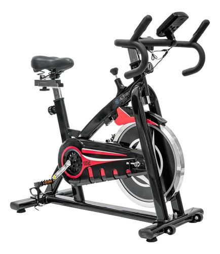 Bicicleta fija Altera Spal ALT58800-18 para spinning negra y roja