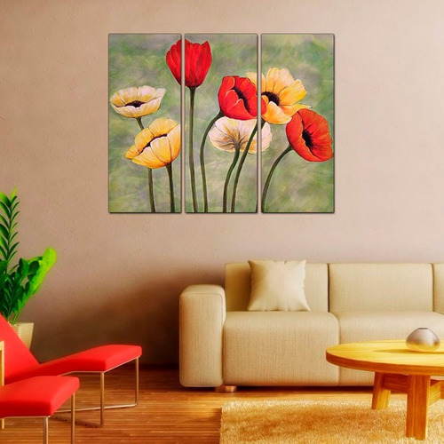 Imagen 1 de 10 de Cuadros De Paisajes Flores Cerezos Rosas Tulipanes