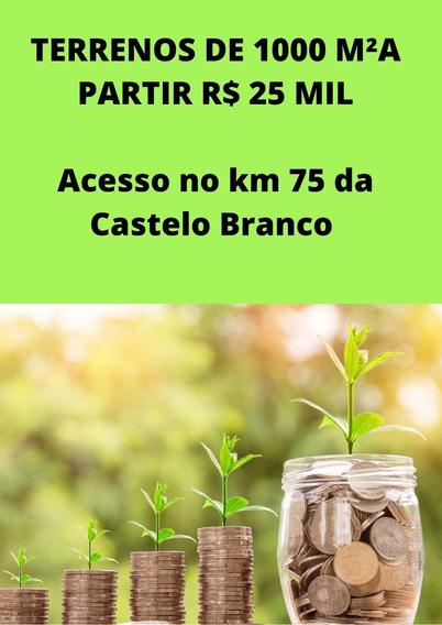 Vendo Terreno Com 1000 M² Por R$ 25.000,00 A Vista