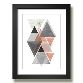 Quadro Figura Geometrica 50x40cm Arte Desenho Abstrato Sala