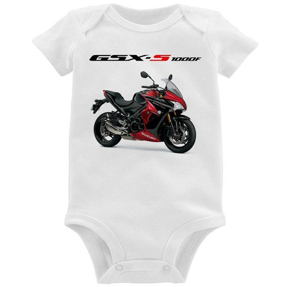 Body Bebê Moto Suzuki Gsx S 1000 F Vermelha
