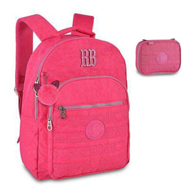 Kit Mochila Escolar Rebecca Bonbon E Estojo Rb9128 Notebook