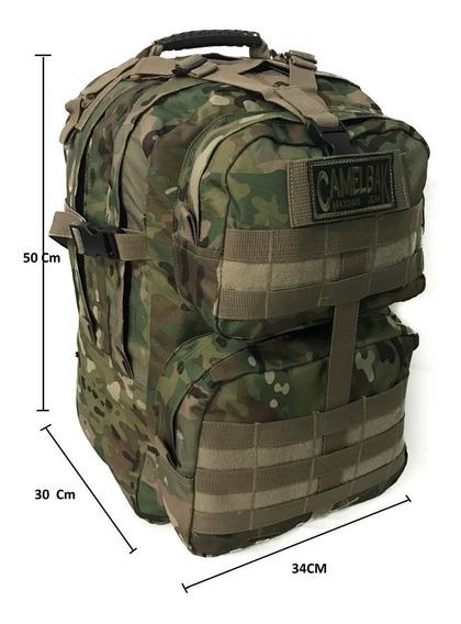 Mochila Tactica Asalto Militar 40 Lts Trekking Seguridad