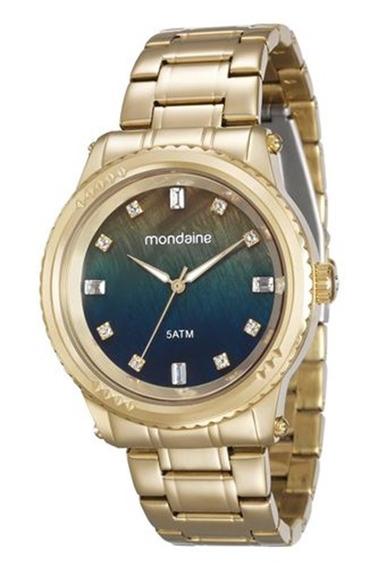 Relógio Mondaine Feminino Dourado Fundo Color 78719lpmvda1