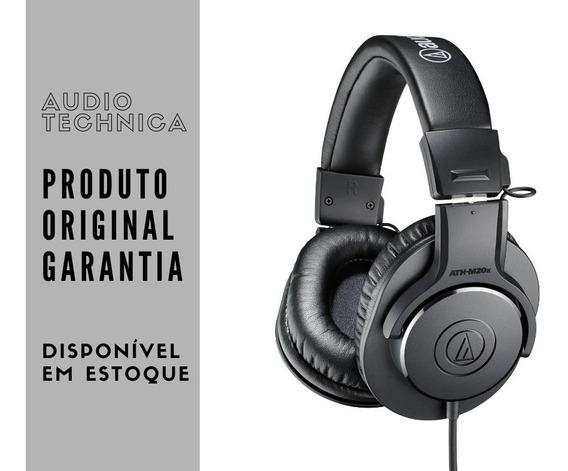 Fone De Ouvido Audio Technica Ath-m20x Promoção Envio 24h