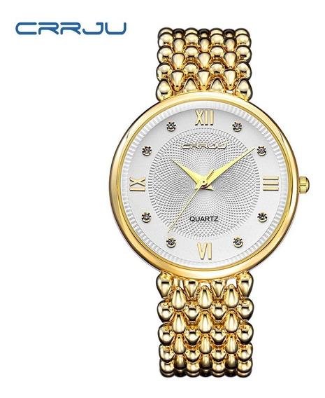 Relógio Feminino Crrju Original Caixinha De Brinde Promoção