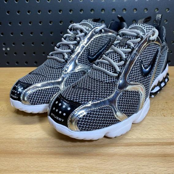 Tenis Nike Stussy X Nike Air Zoom Spiridion Platinum 43 Br