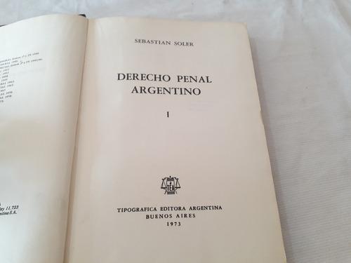 Imagen 1 de 10 de Derecho Penal Argentino Sebastian Soler Tipogrfica Argentina